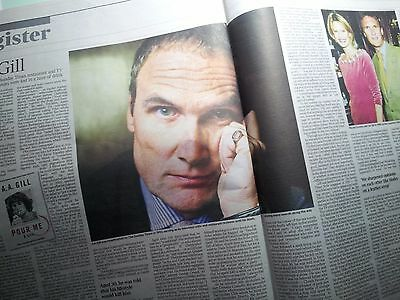AA GILL.Times Obituary.12.12.16. UK newspaper cutting/clipping