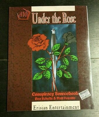 Under The Rose - Conspiracy Sourcebook  D10 Pirates Rpg Oop Erisian Fantasy