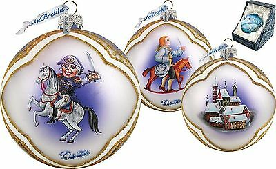 "DeBREKHT ""NUTCRACKER CAVALIER BALL"" HAND PAINTED GLASS ORNAMENT *  FREE SHIPPING"