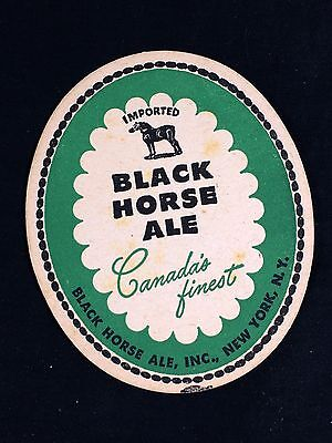 Black Horse Ale Beer Coaster Canada's Finest 1940's New York