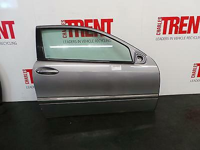 2010 W203 MERCEDES CLC 3 Door Coupe Silver O/S Drivers Right Front Door