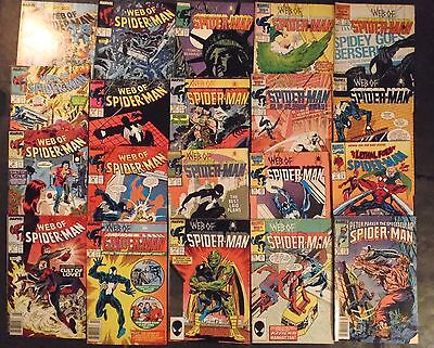 Web Of Spider-Man #12- 44...large lot of 20 Marvel Comics