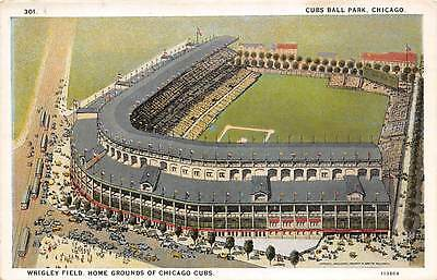 WRIGLEY FIELD, HOME OF CHICAGO CUBS BASEBALL TEAM OVERVIEW, C.T. PUB c. 1915-30