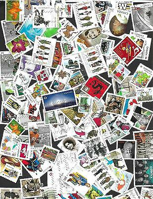 Canada  50  Stamps Used  Different 2013 To 2016 Only
