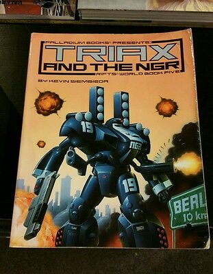 Triax And The Ngr Rifts World Book Five - Rpg Oop Palladium