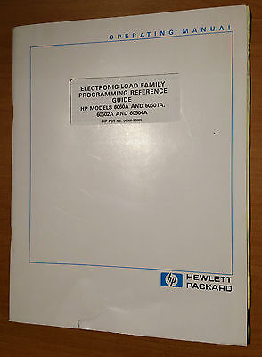 Hp - 6060And 60501-502-504  - Programming Reference Guide    ( Original  Book )