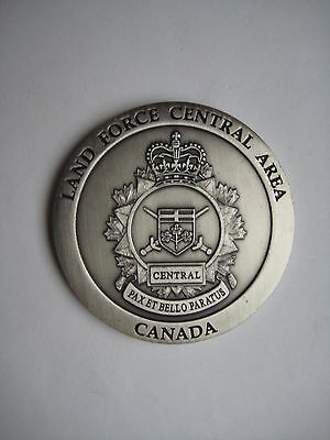 Commanders Coin CN Land Force Central Area Canada