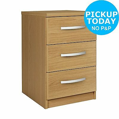 Collection New Hallingford 3 Drawer Bedside Chest - Oak Effect. From Argos ebay