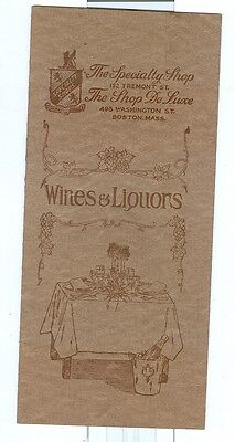 Vintage Wine and Liquor Catalog
