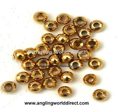4mm Brass beads for Fly-Tying - Gold