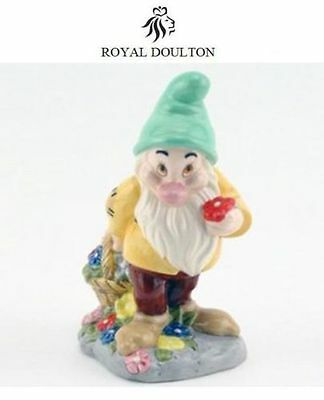 "Royal Doulton Figurine Disney ""Snow White"" DWARF ~ BASHFUL SW23 New box"