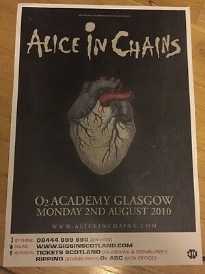 Alice In Chains - Rare gig poster, August 2010, Glasgow