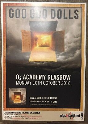 Goo Goo Dolls - gig poster, Glasgow (Oct 2016) Boxes