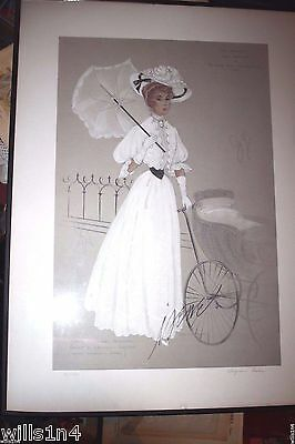 Autographed Meet Me in St Louis fashion poster Judy Garland by Virginia Fisher