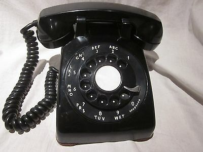 Western Electric 1957 BLACK Model 500 Telephone -Soft Plastic