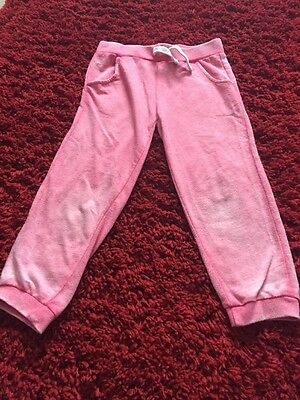 Girl Pink 3/4 Soft Cotton Tracksuit Bottoms Age 9