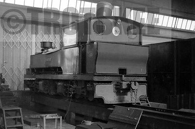 Larger Negative Industrial Steam Bowaters Railway Sittingbourne Monarch  1958