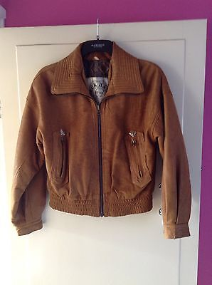 Deck Hand By Whiteboys  Vintage Brown Leather Jacket Size Large