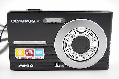 Olympus FE-20 8MP 2.5'' SCREEN 3X DIGITAL CAMERA WITH BATTERY