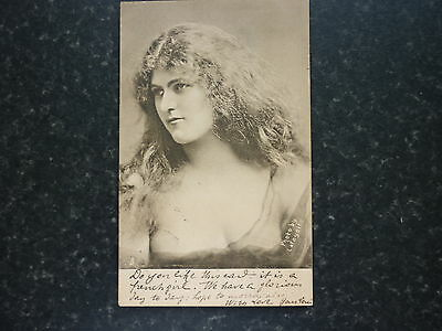 Nice Early Picture Postcard Beautiful Young Lady By Lafayette 1905