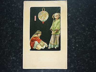 Early Picture Postcard Cute Image By B.Stuart Of Japanese Children In Costume