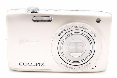 Nikon COOLPIX S3100 14.0 MP 2.7'' SCREEN 5X Digital Camera WITH ACCESSORIES