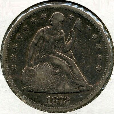 1872 Seated Liberty Dollar - AF540