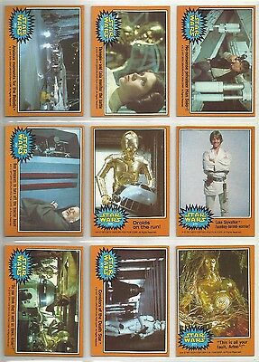 """1977 Star Wars: Series 5 """"Complete Set"""" of 66 Cards & 11 Stickers & 1 WRAPPER"""