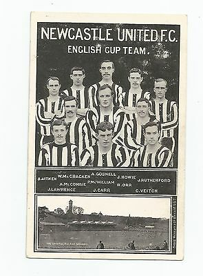 Rare Postcard Newcastle Unted 1905 Cup Final Team & Crystal Palace Ground Superb