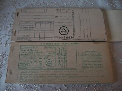 VTG Cities Service Purchase Credit Card Receipt Book Gas Station Oil KOOLMOTOR