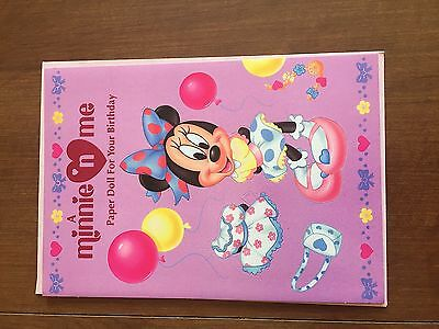 Paper Doll Greeting Cards - Disney's Minnie Mouse - New / Un-used