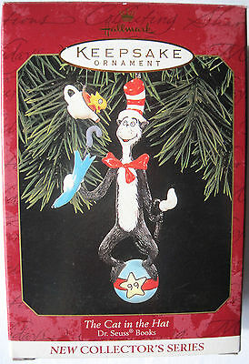 Hallmark 'The Cat in the Hat' two-ornament set; 1st in Suess series; NIB