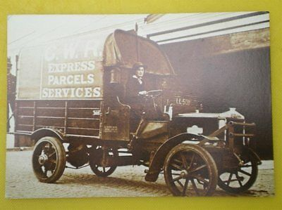 Postcard Gwr Express Parcel Service Lorry Driven By A Women During The War