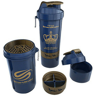 SmartShake Signature 27 oz. Ronnie Coleman Edition Shaker Bottle - Blue/Gold