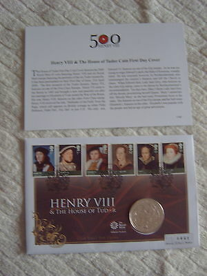 History Of The Monarchy - Coin First Day Cover - Henry Viii & House Of Tudor