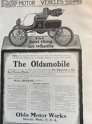 1902 Oldsmobile car full page ad