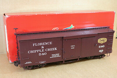 BACHMANN SPECTRUM 88097 Fn3 G GAUGE F&CC FLORENCE & CRIPPLE CREEK BOX CAR 540 qd