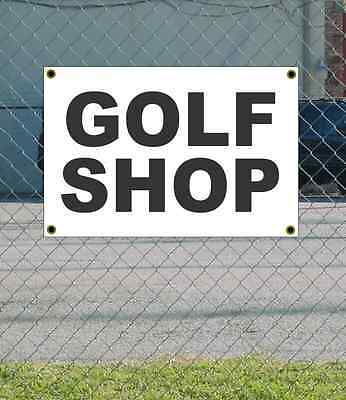 2x3 GOLF SHOP Black & White Banner Sign NEW Discount Size & Price FREE SHIP