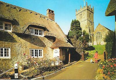Godshill, Church and Cottages , Isle of Wight. Unposted Postcard