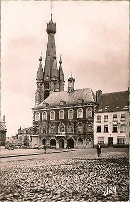 Solre-Le-Chateau -Town Hall and Church - Unposted Postcard