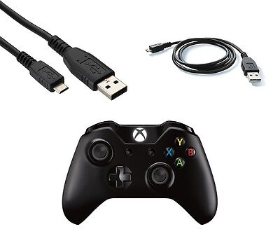 1m Micro USB Charger Cable for Xbox One Wireless Controller Play & Charge Black