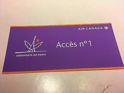 Air Canada Paris Charles De Gaulle T2A Fast Track Immigration/Security Pass