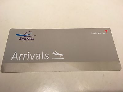 Asiana Airlines E Express Lane for Fast track Arrivals in Sydney Airport