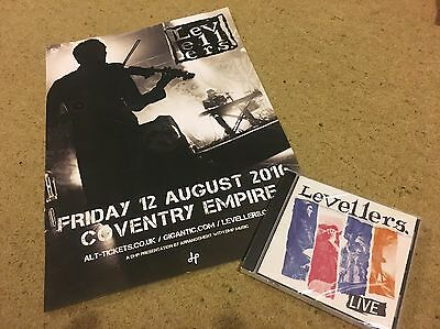 Levellers Live cd And Poster 2016 Coventry Empire Tour Poster