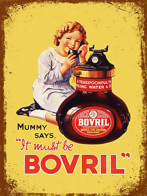 vintage retro style Bovril advert poster image metal sign wall door plaque
