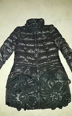 womens designer down feather coat size 10-12 £150