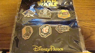 ~2015 Star Wars The Force Awakens Booster Collection Disney Trading Pin Set BB8