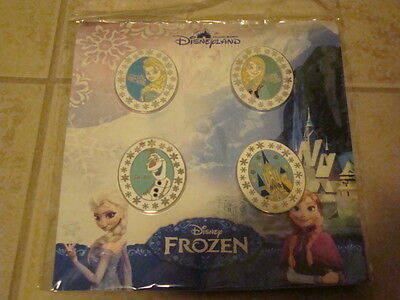 ~2013 Frozen Booster Collection Disney Trading Pin Set Parks Elsa Anna Olaf!