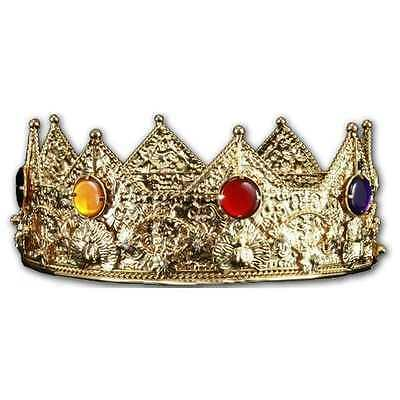 "GOLD KING CROWN by ELOPE NEW IN PACKAGE METAL 3.5"" TALL ROLEPLAY  #sdec16-07"