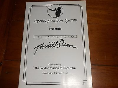 The Music of Torvill & Dean - 1985 London Musicians Orchestra Concert Programme